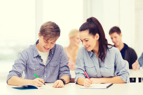 http://www.dreamstime.com/stock-photos-two-teenagers-notebooks-school-education-people-concept-image41310663